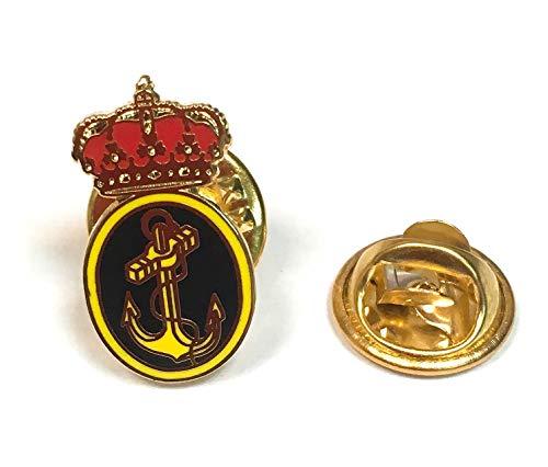 Gemelolandia | Pin de Traje Emblema Armada Española | Pines Originales Para Regalar | Para las Camisas, la Ropa o para tu Mochila | Detalles Divertidos