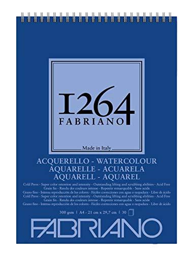 Bloco 1264 Fabriano Watercolor A4 30 Folhas