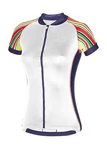 RH+ Paint W, Fashion Lab Bike Jersey Donna, White-Multicolor-Fucsia-Dark Blue, L