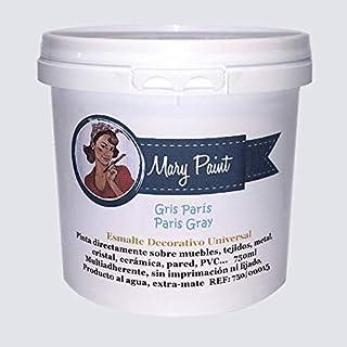 Mary Paint   Pintura para muebles efecto Chalk Paint, Gris Paris, 750ml