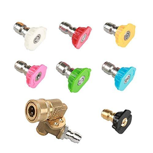 Aiyrchin Rotación de Boquilla Turbo 4500psi con Boquilla giratoria Consejos Spray Boquilla Turbo arandela de la presión del Limpiador de boquillas de Accesorios