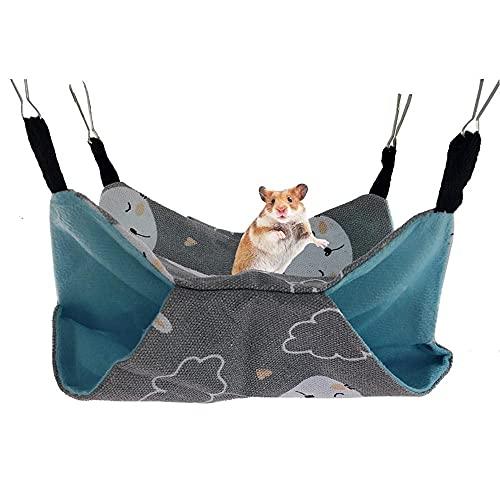 LTCTL Hamsters para mascotas Hamacas de doble capa de lona chinchillas hurones hamaca colgante cama nido pequeño mascota algodón jaula accesorios