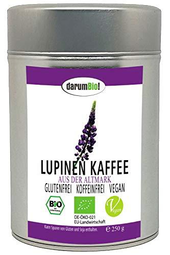 Bio Lupinen Kaffee - koffeinfrei, glutenfrei, vegan, frische Pressung, hoch edel, aus Deutschland (250 gr)