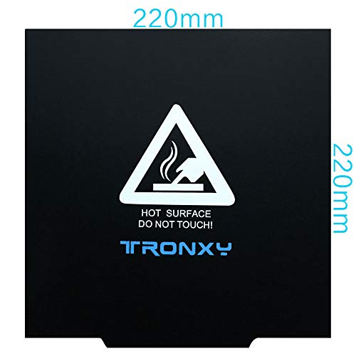 TRONXY 3D Printer Magnetic Hot Bed Sticker Ultra-Flexible Removable 220X220 Build Surface for XY-2/X2/P802M