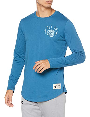 Under Armour X Project Rock Long Sleeve Top (Acadia/White - 446, X-Large)