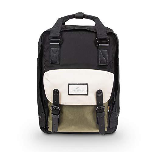 Doughnut Macaroon Jumanji Series 16L Travel School Ladies College Girls Lightweight Casual Daypacks Bag Backpack (Black x Slate Green)