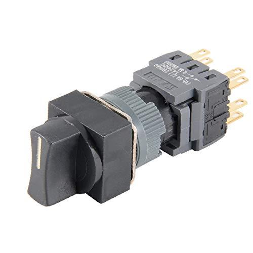 X-DREE AC 250V 5A DPDT 8P ON-OFF-ON 1/0/2 Interruptor selector rotativo de 3 posiciones de cabeza cuadrada (AC 250V 5A DPDT 8P ON-OFF-ON 1/0/2 3 Position Square Head Rotary Selector Switch