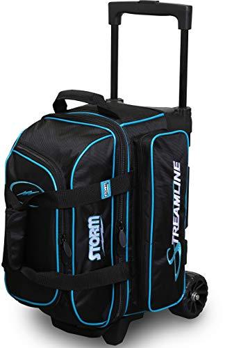 Storm Streamline Bowlingtasche mit 2 Ballrollern, Schwarz/Blau