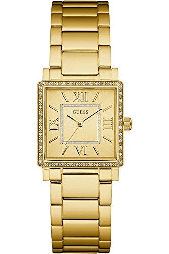 Guess w0827l2, disfraz, acero inoxidable, tono dorado, bisel con cristales, 30m WR