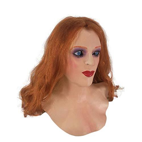 Hengyutoy Mask Weibliche Hautmaske Halloween Cosplay Crossdress für Erwachsene
