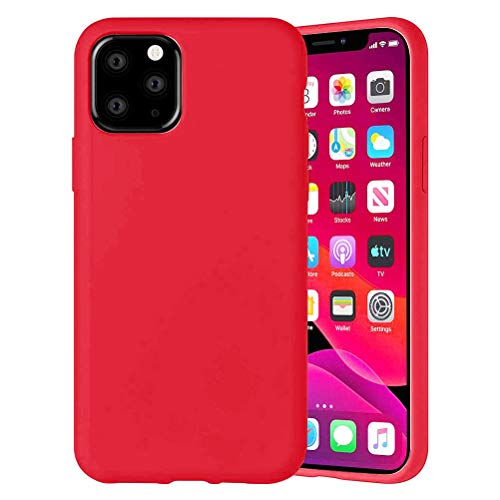 Yoedge Color Sólido Funda para Xiaomi Mi A2 Lite/Xiaomi Redmi 6 Pro 5.84″ Sencillez Carcasa de Silicona Case Protectora de TPU Suave Protección Cover para Xiaomi A2 Lite Teléfono Carcasas Fundas,Rojo