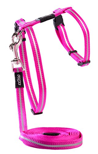 Rogz Alleycat Cat Harness and Lead, Pink Small