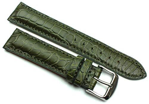 20mm Echt Alligator Vintage hangemacht in Deutschland Uhrenarmband Olive