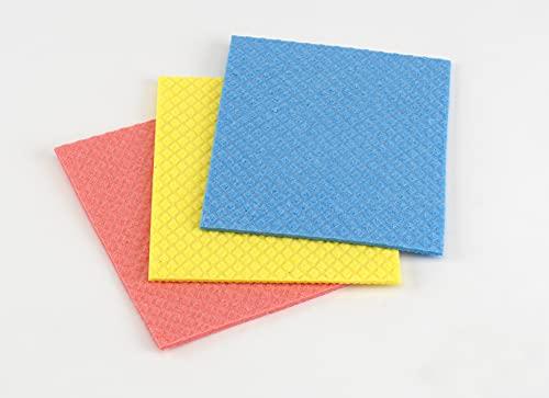 Casabella Cellulose Sponge Cloth, 3-Pack, assorted colors