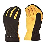 AmazonBasics Cold Proof Thermal Winter Work Gloves, Yellow, M