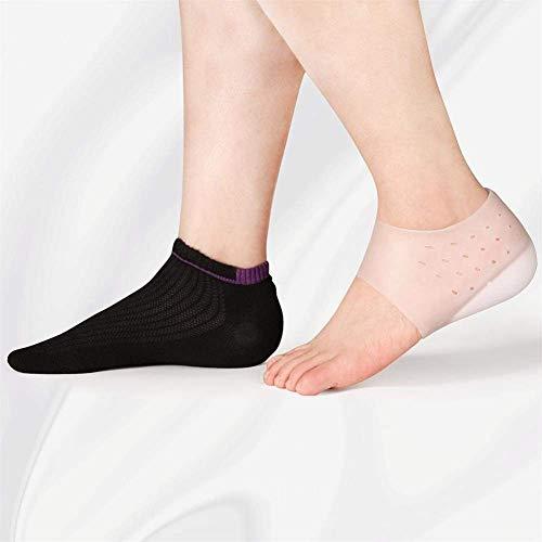 Invisible Altura Aumentar Calcetines Mujeres Hombres Pads Pelizas de silicona Gel Levantamiento de plantillas Vestido en calcetines Libras de herramientas de cuidado de la piel del pie agrietado (colo