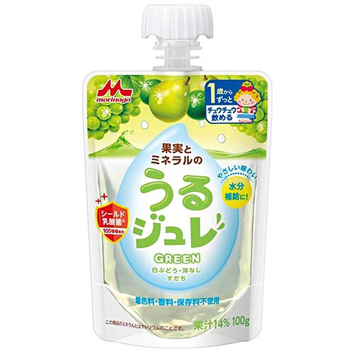 森永乳業 うるジュレ GREEN 100gパウチ×36本入×(2ケース)