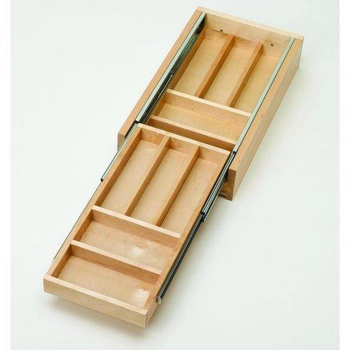 Rev-A-Shelf Ménagère double étage en bois 35,6 cm