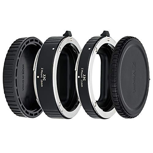 JJC Metall Autofokus-Zwischenringe (AF) für Makrofotographie 11mm/16mm Set für Nikon Z-Bajonett System-Digitalkamera Z7, Z7II, Z6, Z6II, Z5, Z50 usw. und Z Bajonett Objektiv