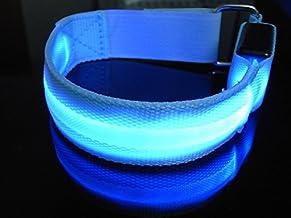 DDQ LED Light Armband Safely Walking and Running Flashing Wristband -Blue