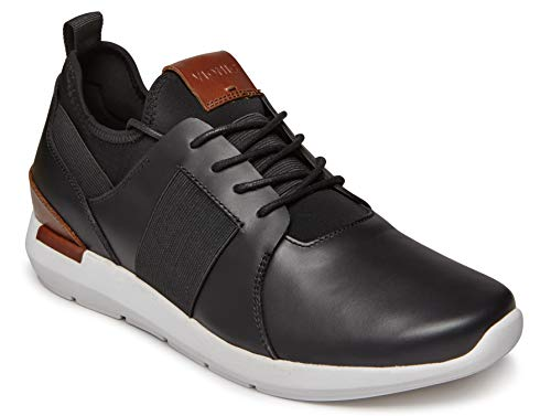Vionic Men's Bond Caleb Lace-up Sneaker with Concealed Orthotic Arch Support Black 8.5 D US