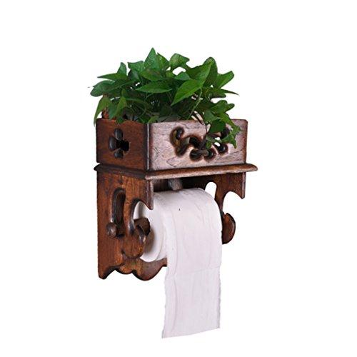 CSQ Kreative Regal, Papierhandtuchhalter Multifunktionale Regalspeicher Handy Feuerzeug Topfpflanzen Massivholz Dekorationen Badezimmer 17 * 12 * 28 cm Dekoration (größe : 17 * 12 * 28CM)