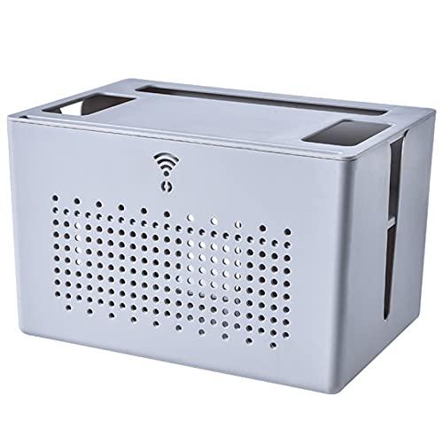 Estante De La Caja Router Wifi Caja de almacenamiento wifi cable de red y cable de escritorio para el hogar enrutador inalámbrico para sala de estar caja de almacenamiento rack (31 * 21 * 20 cm)