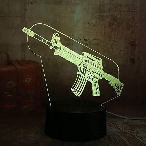 New Boy Cool 3D LED Night Light PUBG onderlak Gun M4 Boy Gift 7 kleuren verandering USB batterij tafellamp kerstcadeau