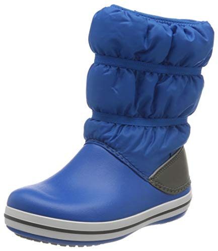 crocs Unisex-Kinder Crocband Winter Boot Kids Schneestiefel, Bright Cobalt Light Grey, 23-24 EU