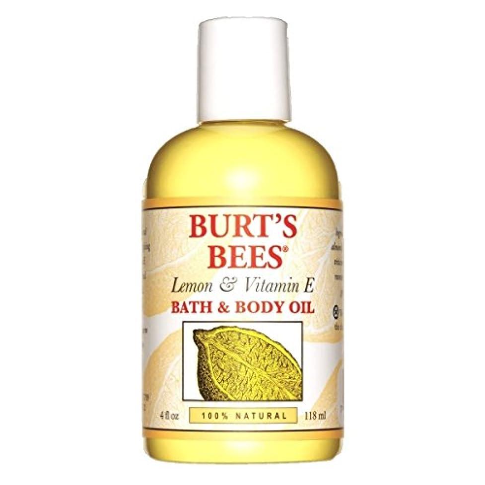 ぴったり小売手綱バーツビーズ(Burt's Bees) レモン&ビタミンE バスアンドボディオイル 118ml [海外直送品][並行輸入品]