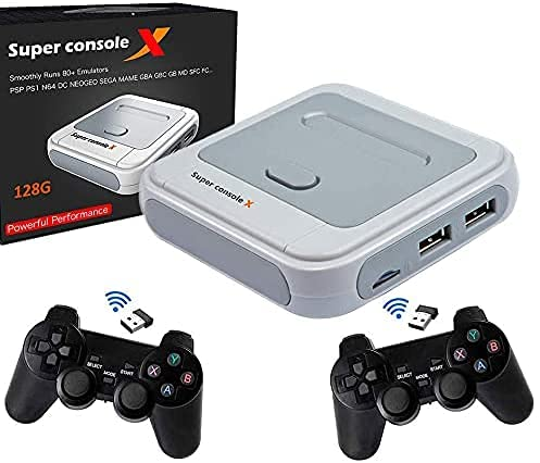 Retro Game Console, NES, SNES, N64, C64, Atari Classic Video Game System Built-in 40000 Games with 2...
