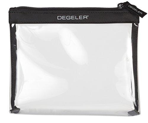 Beauty case trasparente | adatto per trasporto liquidi in Bagaglio a mano | degeler trasparente borsa per Viaggio da Aereo, cosmetici borsa richiudibile con zip - nero