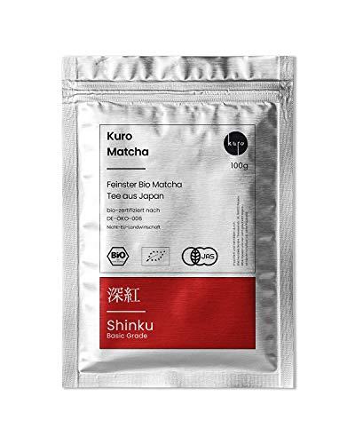 Matcha Shinku – Bio-Matcha-Tee aus Japan (100 g) – Extrafeines Grüntee-Pulver - Ideal für Smoothies, Matcha Latte, zum Backen und Pur - Vorratspackung mit Zip-Verschluss