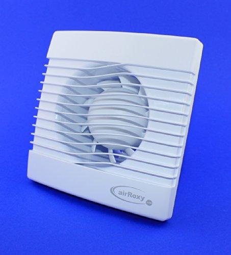 PrimS Badkamerventilator, ventilator, plafondventilator, voorkant, Ø 120 mm, 12 cm, voor badkamer, keuken, standaard