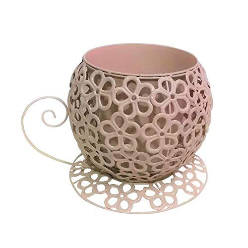 Vintage Look Teacup & Saucer Planter Plant Pot Holder Table Decor Mother's Day