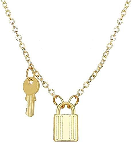 Ahuyongqing Co.,ltd Collar Colgante Collar con candado y Llave Collares de Pareja para Mujeres y Hombres Collar de Promesa de Amistad de Amor romántico