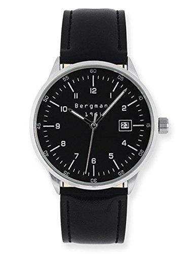 Bergmann Uhr Analog mit Leder Armband BG 1956