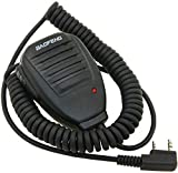 Auricular-Micrófono 2 Pin PTT para Emisora Walkie Baofeng-Pofung UV-5R UV5-RA (1 Micro-Altavoz)