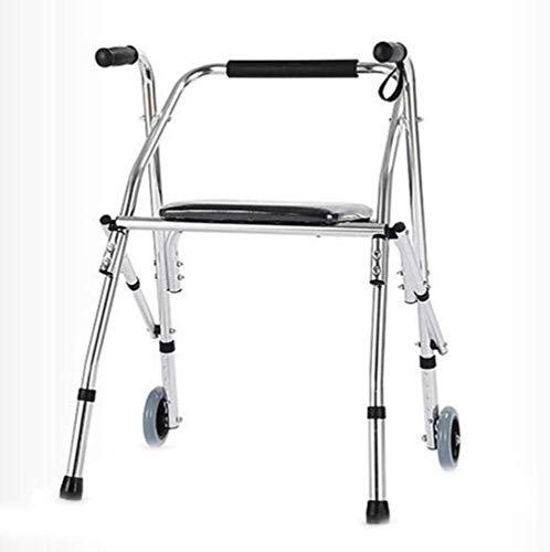 Rollator voor handicaties, voor oudere walkers met rugleuning voor grotere hoogte, laag gewicht, opvouwbaar, verstelbaar, reiswalker voor grotere leken.