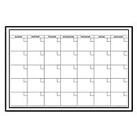 ウォールステッカー カレンダー ホワイトボード シート 万年カレンダー 壁に貼ってはがせる ステッカー WALL POPS! ウォールポップス monthly calendar WPE0447