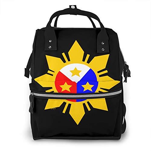 Banderas de Filipinas de gran capacidad multifunción momia mochila bebé pañales bolsas para el cuidado del bebé