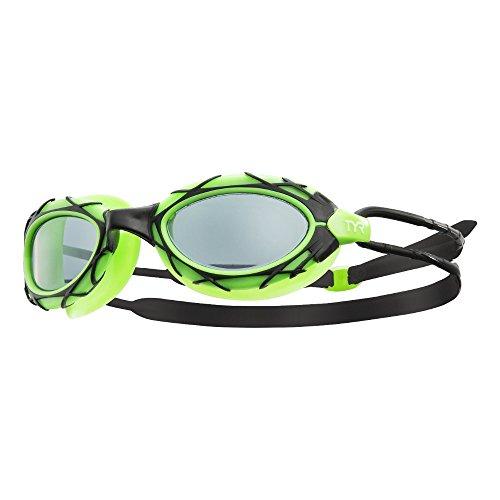 TYR Nest PRO, Occhialino da Nuoto E da Triathlon Unisex – Adulto, Smoke/Verde/Nero, M
