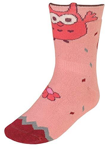 maximo Stopper Socken mit rutschfester Silikon Sohle Motiv EULE in Altrose o. Violett 295976 (19-22, Rosa)