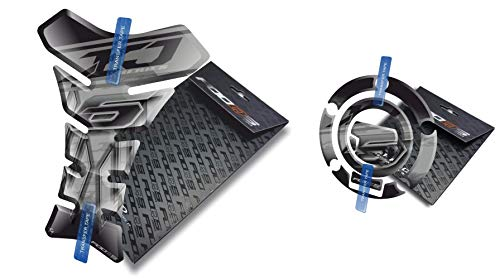 Tankpad et Cappad pour Yamaha Xj6 X J 6 XJ (Argent)