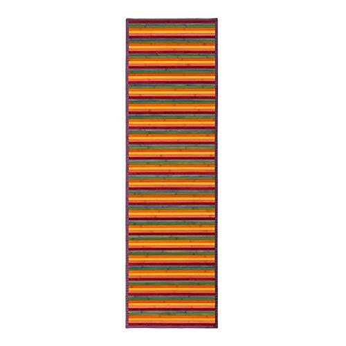 Hogar y Mas Alfombra BAMBÚ Rayas Multicolor 60X200