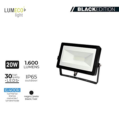 Edm 70348 Foco Proyector Led 50W, 4000K, 3000 Lumens, Negro