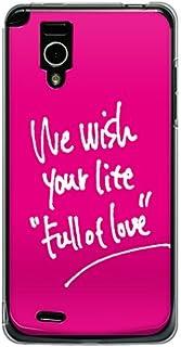 CaseMarket 【ポリカ型】 docomo Optimus it L-05D ポリカーボネート素材 ハードケース [ We wish your life Full of Love - Lover Pink ]