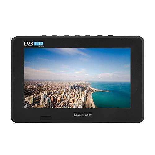 VBESTLIFE TV Portatile da 7 Pollici, T-T2 16: 9 TV analogica Digitale HD TV Player per casa/Auto(EU Plug)