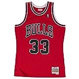Mitchell & Ness NBA Chicago Bulls Scottie Pippen 33 1997-98 Retro Jersey Swingman Oficial Away...