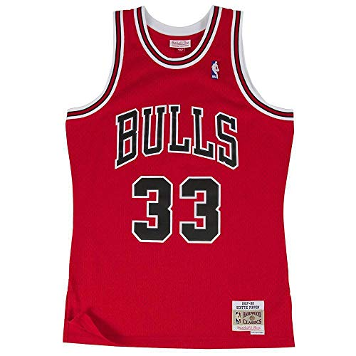 Mitchell & Ness NBA Chicago Bulls Swingman Scottie Pippen Basketballtrikot Herren dunkelrot, L